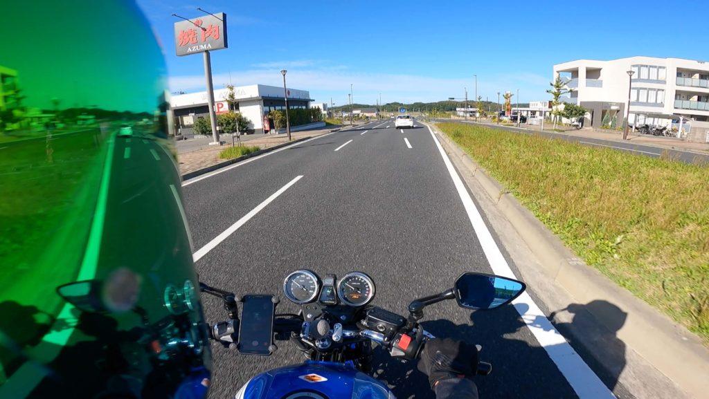 goprohero9ヘルメットのマウント場所による映像の違い:サイドマウント映像