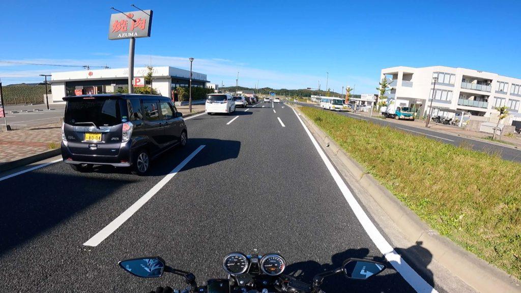 goprohero9ヘルメットのマウント場所による映像の違い:頭頂マウント映像