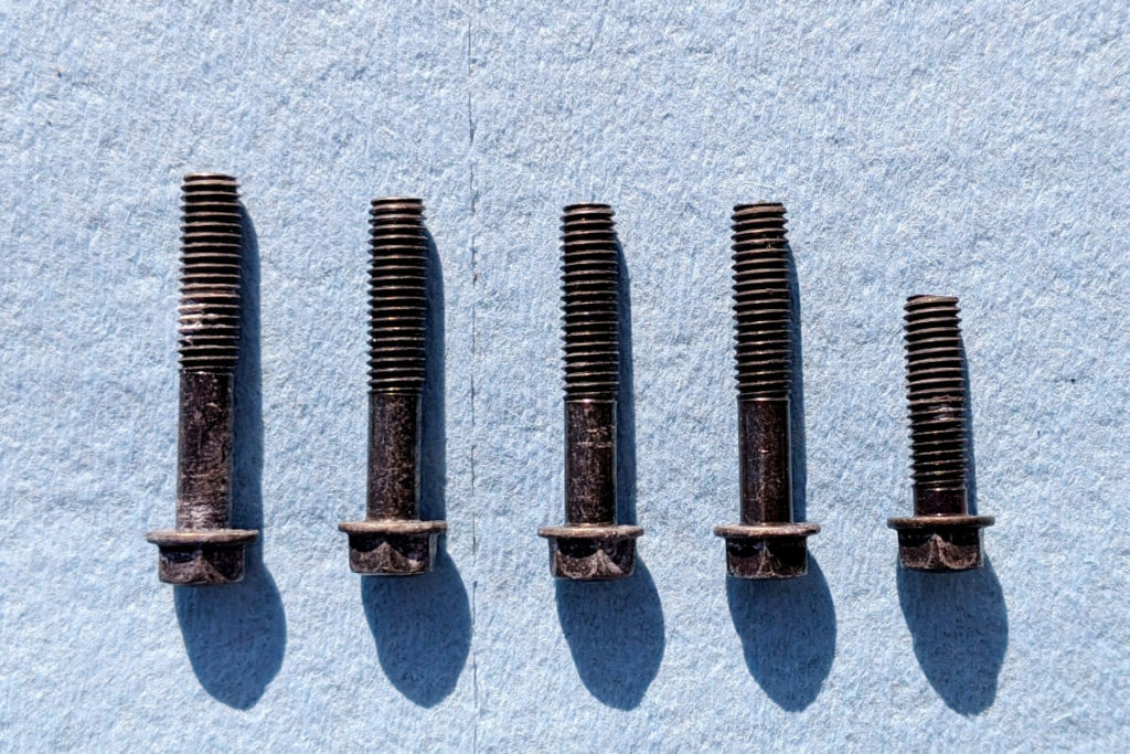CB400SFフロントスプロケットの掃除:ボルトの種類