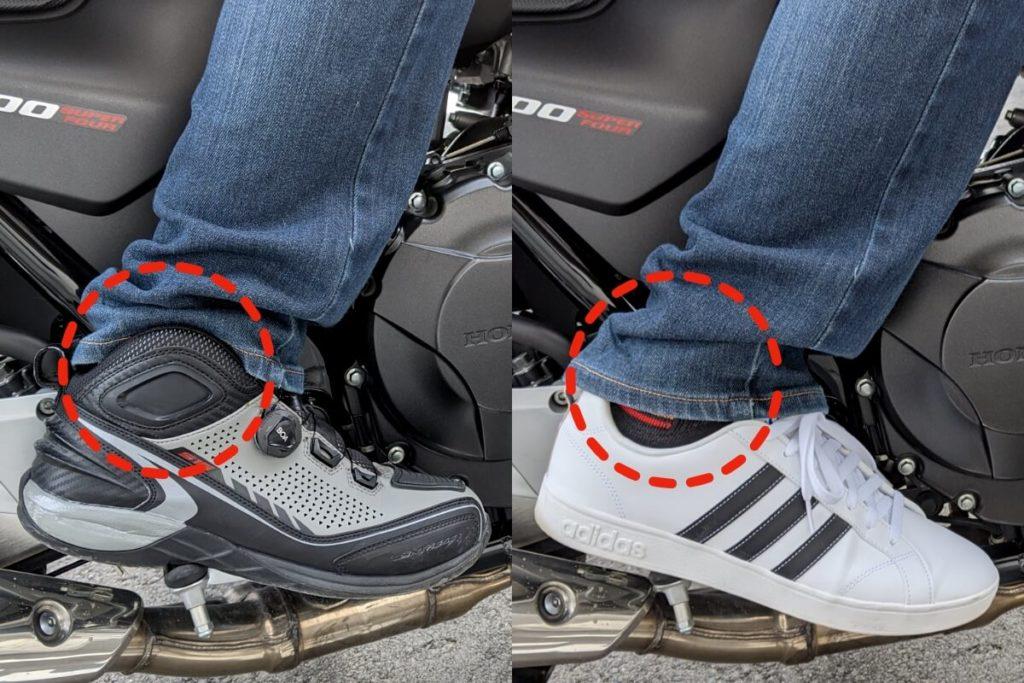 ライディングシューズを履くメリット:くるぶし・足首の保護