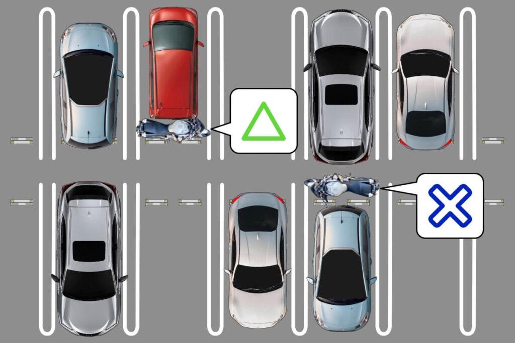 【賃貸・マンション】車の後ろにバイクを駐車:許可されない