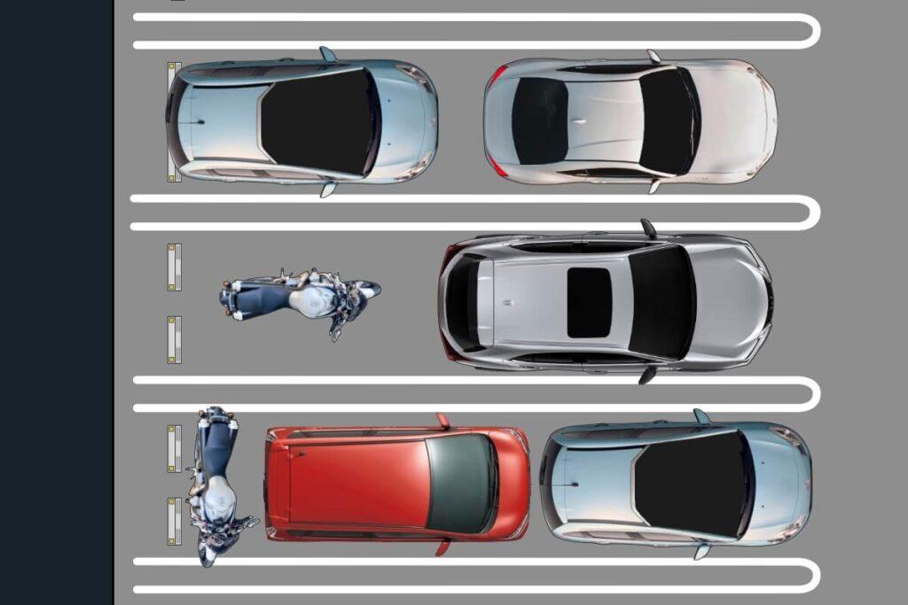 【賃貸・マンション】車の後ろにバイクを駐車:縦列駐車場
